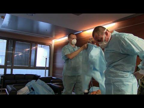 Шефът на полевата болница в Бергамо оцени високо работата на руските военни медици
