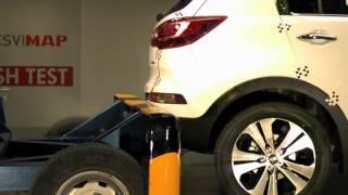 Crash Test Kia Sportage trasero en Cesvimap