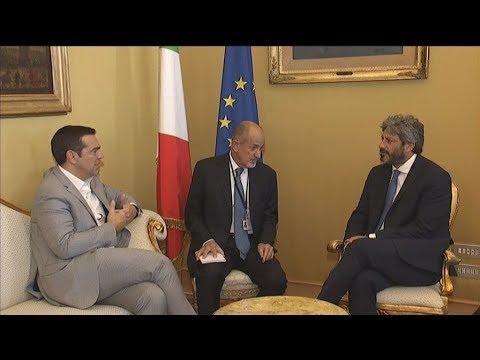 Συναντήσεις Αλ. Τσίπρα με εκπροσώπους κομμάτων στη Ρώμη