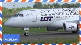Close Up Of Star Alliance Livery LOT Embraer 170 Arrives From Warsaw At CPH - Flyvergrillen - SP-LDC