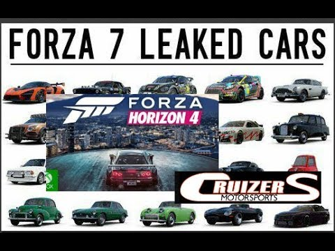 Leaked FM7 DLC cars & Possible Location of Forza Horizon 4!!