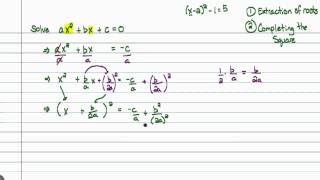 Intermediate Algebra - Quadratic Formula (Part A)