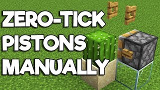 Minecraft 1.14 • Manual Zero-Tick Pistons & Cactus Nano-Farm! [Redstone Tutorial]