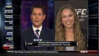 "Ronda Rousey  ""Odds are very high on the armbar""  - live on Sportscenter 12/26/13"