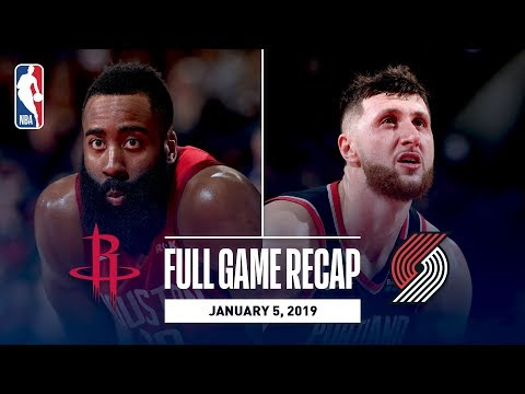 Video: Full Game Recap: Rockets vs Trail Blazers | James Harden Continues Historic Pace