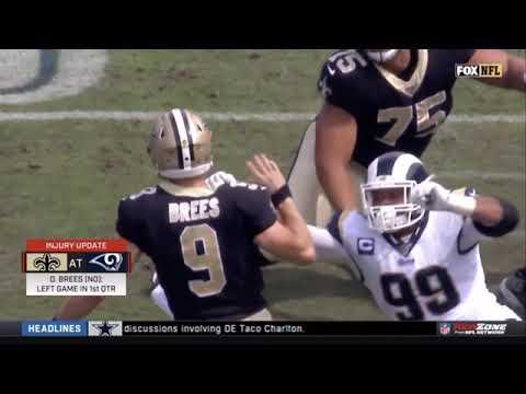 Drew Brees hurt his thumb(rip for saints)