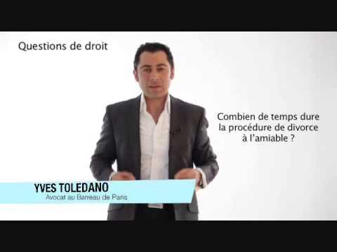Le divorce à l'amiable. Maître Yves Tolédano Avocat