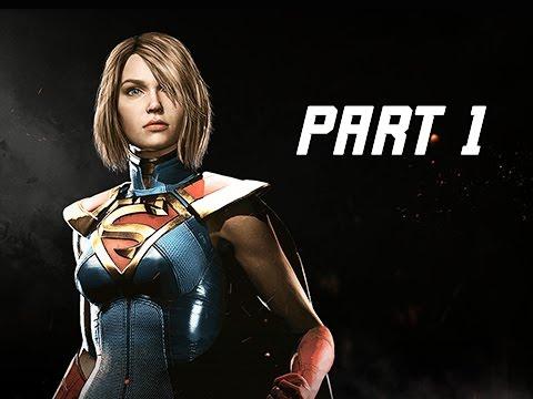 INJUSTICE 2 Walkthrough Part 1 - Chapter 1 GODFALL - Kara & Batman (Story Mode Let's Play) (видео)