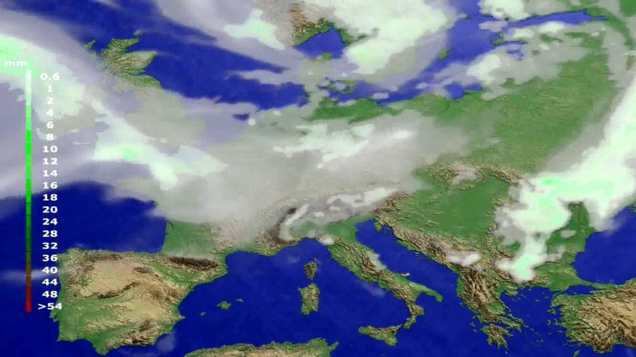 Precipitation forecast Europe 2016-07-29