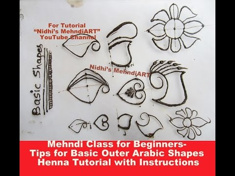 Video Mehndi Class for Beginners- Tips for Basic Outer Arabic Shapes Henna Tutorial with Instructions download in MP3, 3GP, MP4, WEBM, AVI, FLV January 2017