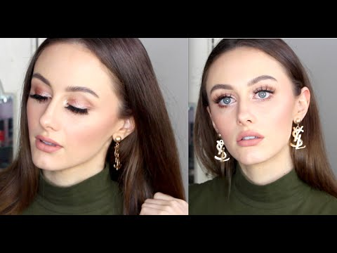 Neutral Glam Makeup | Lilly Lashes | Australis Velour Lips