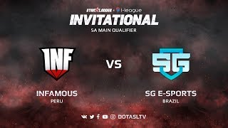 Infamous против SG e-Sports, Вторая карта, SA квалификация SL i-League Invitational S3