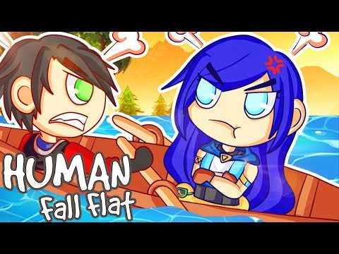 Human Fall Flat - THIS LEVEL IS TOO HARD!! (Funny Moments) (видео)