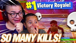 OMG MY 9 YEAR OLD BROTHER WINS ANOTHER SOLO GAME WITH SO MANY KILLS! FORTNITE BATTLE ROYALE! WHAAAT!