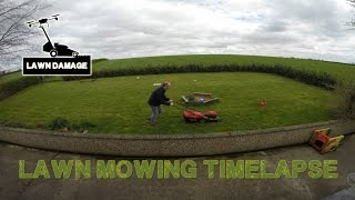 Lawn mowing timelapse