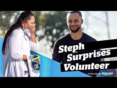"Stephen Curry Surprises Community Volunteer Angelica (Ep 1) | ""A Gift of Joy"" Presented by Rakuten"
