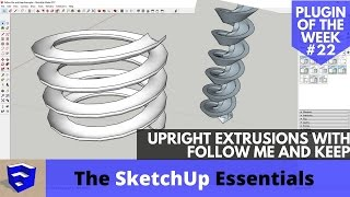 Video Vertical Upright Extrusions in SketchUp with Follow Me and Keep - SketchUp Extension of the Week #22 MP3, 3GP, MP4, WEBM, AVI, FLV Desember 2017
