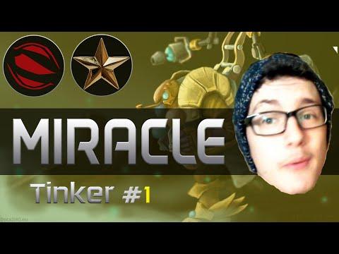Miracle plays Tinker [Dagon 5 Force Staff Blink, Killing Machine Build, 23 Kills] Dota 2 [Ranked]