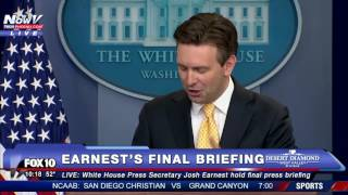 FNN: Josh Earnest FINAL White House Press Briefing - President Obama To Visit