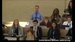 Kay Wilson at the UN Human Rights Council