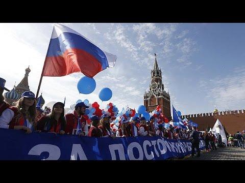 Οι εορτασμοί της Εργατικής Πρωτομαγιάς στη Μόσχα