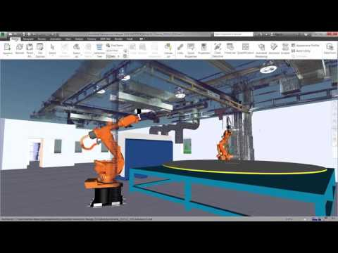 Convert factory layouts that were designed and optimised in AutoCAD into rich 3D models. Combine them with point cloud data to create a complete digital factory for review. (video: 2.10 min.)