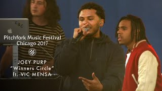 "Joey Purp Performs ""Winners Circle"" With Vic Mensa at Pitchfork Music Festival 2017"