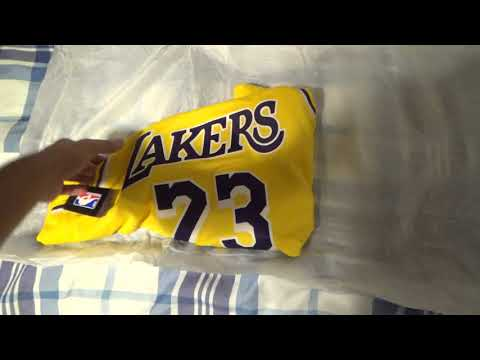 Los Angeles Lakers LeBron James Swingman Jersey Gold unboxing/review