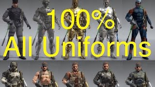 All Snake Uniforms in game Metal Gear Solid V: The Phantom Pain. See every possible uniform available in game if you got the Day 1 Edition and used the ...