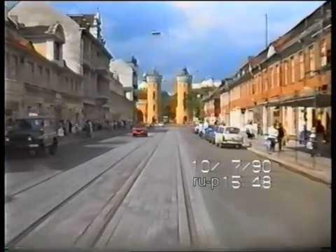 1990: Fahrt mit der Straßenbahn durch Potsdam