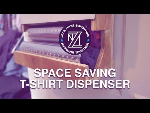 LMSAT - Space Saving T-Shirt Dispenser & Graphic Tee Randomizer