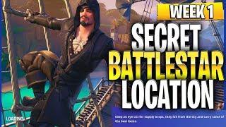 Season 8 Week 1 Secret Battlestar Location (Lazy Lagoon Hidden Battlestar Location)