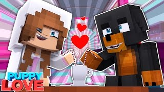 BABY ELLIE GOES ON A DATE WITH BABY MAX?! Minecraft Puppy Love