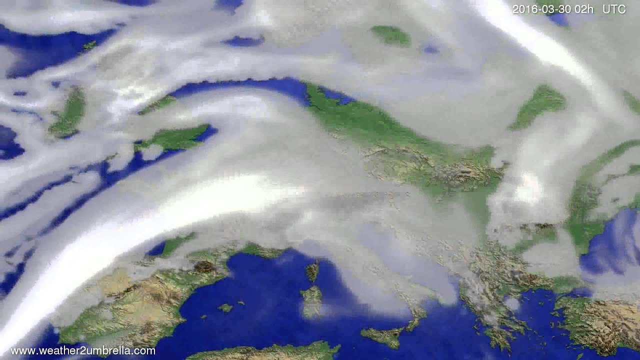 Cloud forecast Europe 2016-03-26