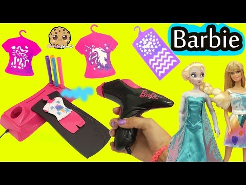 Airbrush Designer Maker - Make Custom Doll Clothing for Barbie + Disney Frozen Queen Elsa (видео)