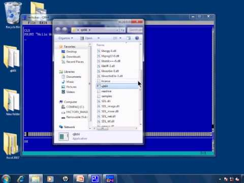 How to download qbasic and qb64 youtube.