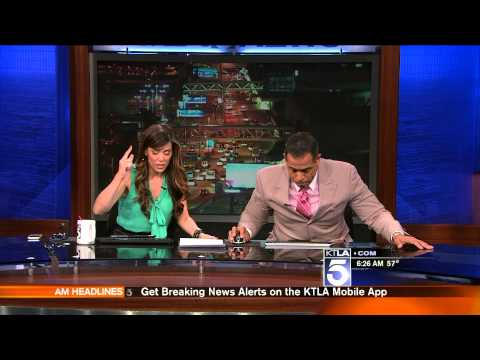 WATCH: Two News Anchors Hid Under Their Desk When L.A. Got Hit by a 4.4 Magnitude Earthquake