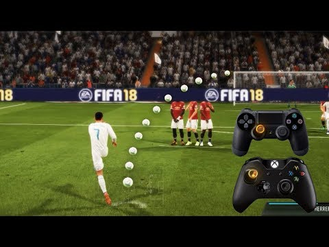FIFA 18 ALL FREE KICKS TUTORIAL | TRIVELA, KNUCKLEBALL,POWER, RABONA !