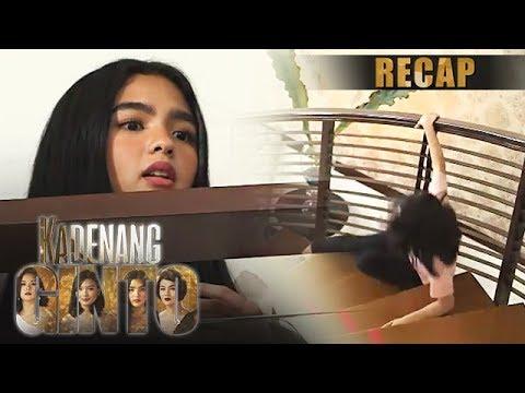 Cassie falls down the stairs because of Marga   Kadenang Ginto Recap