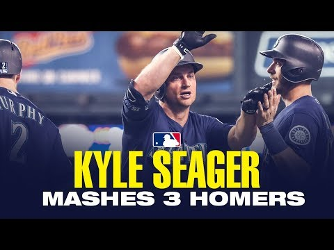 Video: Kyle Seager slugs three homers vs. the Tigers