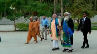 Video Arrival of our Honourable Prime Minister to Isha Yoga Centre, Coimbatore MP3, 3GP, MP4, WEBM, AVI, FLV November 2017
