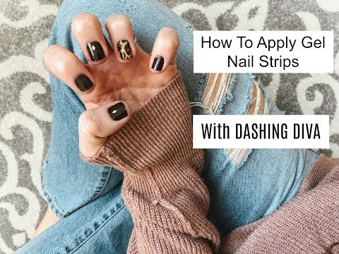 Gel nails - How To Apply Gel Nail Strips With Dashing Diva