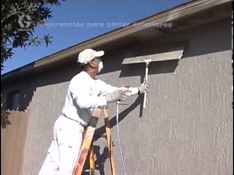 Graco Airless - This video will help with tips and tricks for painting the exterior of a building or home in a fraction of the time it would take with a roller or brush. Mak...