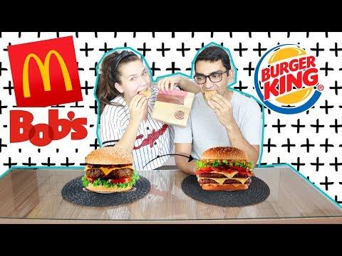 QUAL É O MELHOR HAMBÚRGUER FAST FOOD? McDonalds, Burger King ou Bobs?