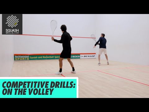 Squash Tips: Competitive Drills - On The Volley - With Lee Drew & Jethro Binns