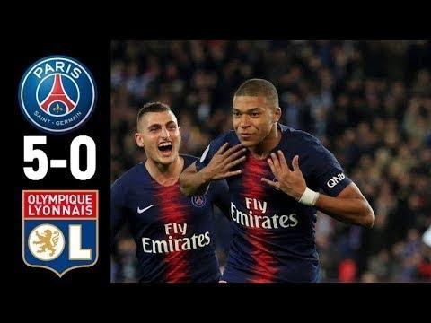 PSG 5-0 Lyon || Ligue 1 || All goals & Highlights && Super Hat trick for Mbappé
