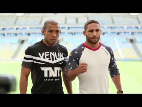 event - Team Alpha Male leader Urijah Faber previews the main event showdown between teammate Chad Mendes and Jose Aldo at UFC 179.