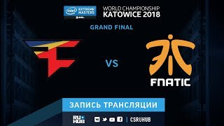 FaZe vs fnatic - IEM Katowice 2018 - map5 - de_train [ceh9, yXo]
