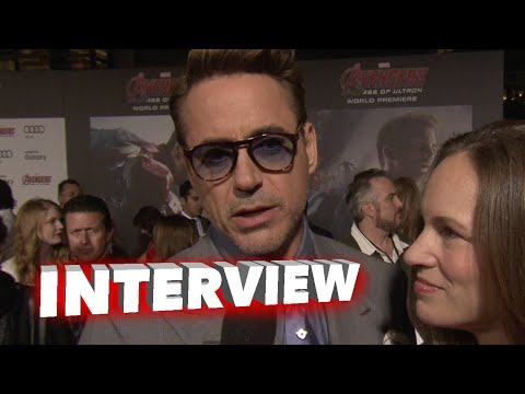 "Marvel's Avengers: Age of Ultron: Robert Downey Jr. ""Tony Stark"" / ""Iron Man"" Premiere Interview"