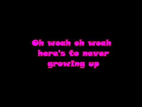 Avril Lavigne   Heres to Never Growing Up LYRIC VIDEO